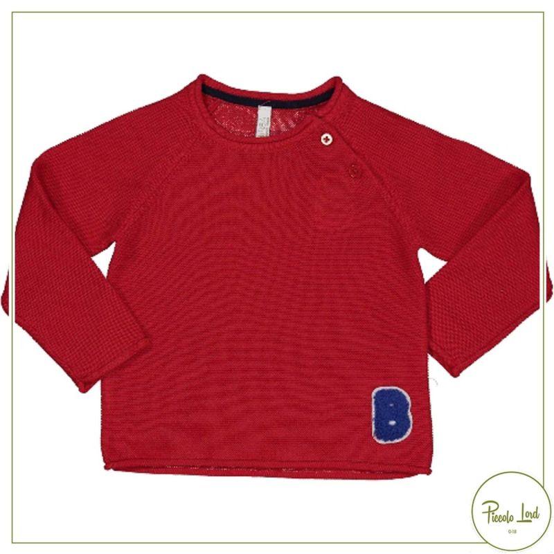 Maglia Birba/Trybeyond Rosso Abbigliamento Bambini Autunno Inverno 2021 36606