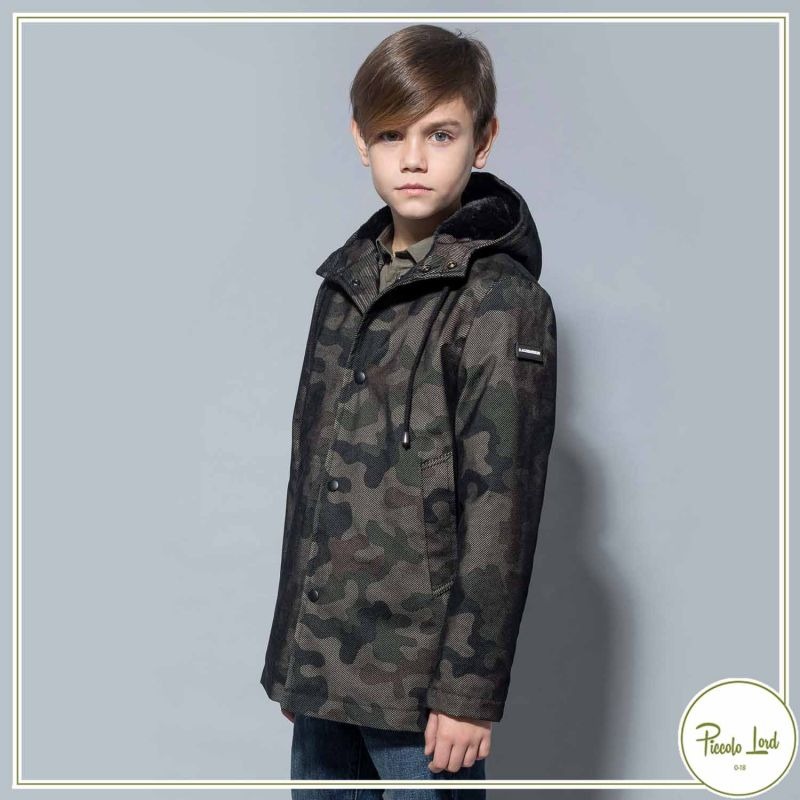 Giubbotto Alessandrini Camouflage Abbigliamento Bambini Autunno Inverno 2021 1231O1029