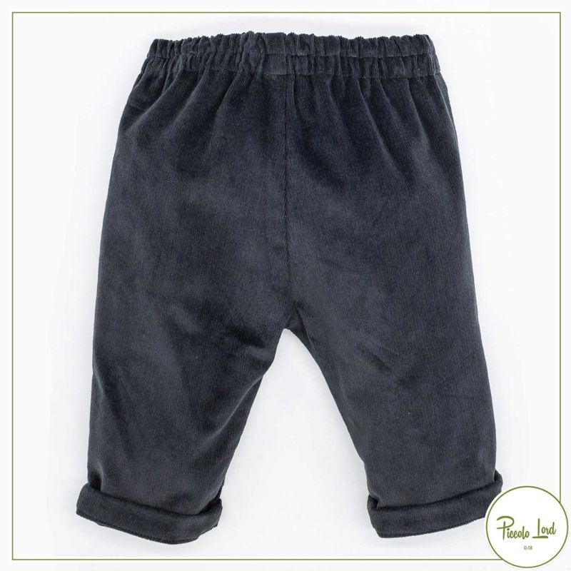 Pantaloni Fina Ejerique Grigio Abbigliamento Bambini Autunno Inverno 2021 O21B02