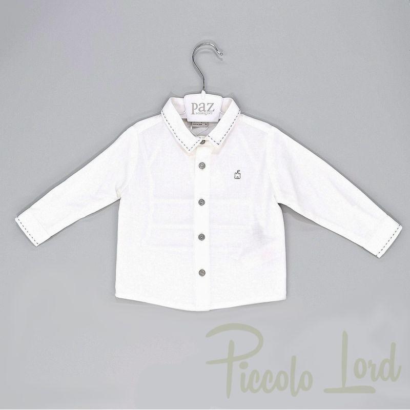 006-15730cg Camicia Paz Rodriguez Abbigliamento Neonato Nuova Collezione Piccolo Lord Bari