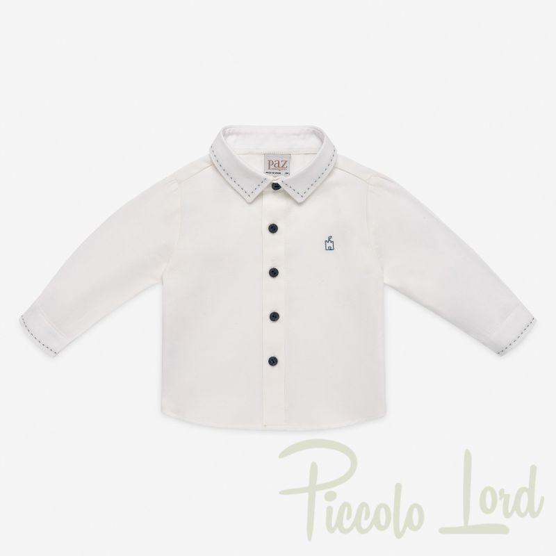 006-15730cdg Camicia Paz Rodriguez Cerimonia neonato Piccolo Lord Bari