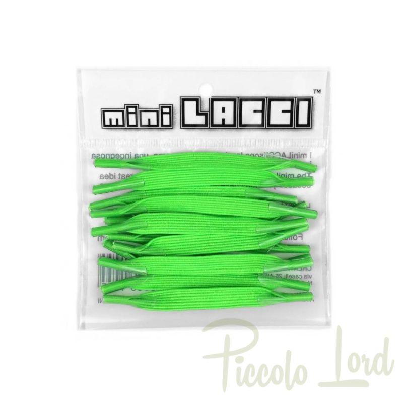 ML-08 Mini Lacci Verde Fluo Accessori per completare l'outfit