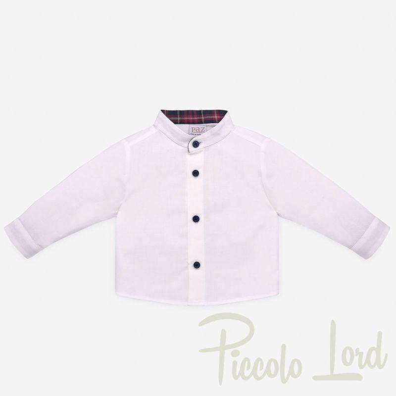 006-25981 Camicia Paz Rodriguez Rosso Abbigliamento Neonato Autunno Inverno 2020 Piccolo Lord