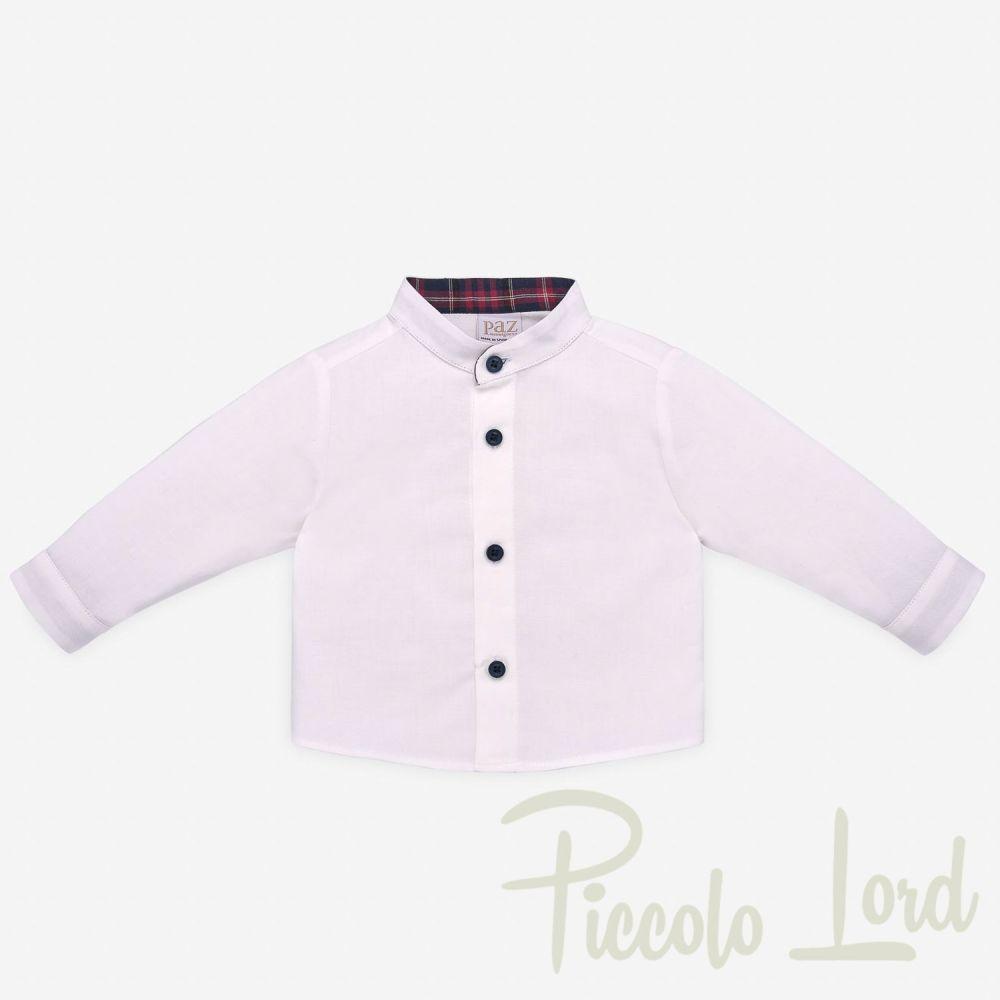 Camicia Paz Rodriguez Rosso Abbigliamento Neonato Autunno Inverno 2020 006-25981