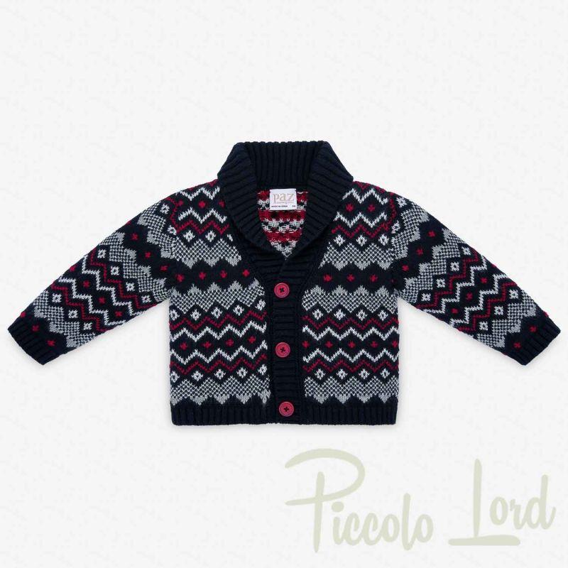 001-31067 CARDIGAN Paz Rodriguez Blu Abbigliamento Neonato Autunno Inverno 2020 Piccolo Lord Bari