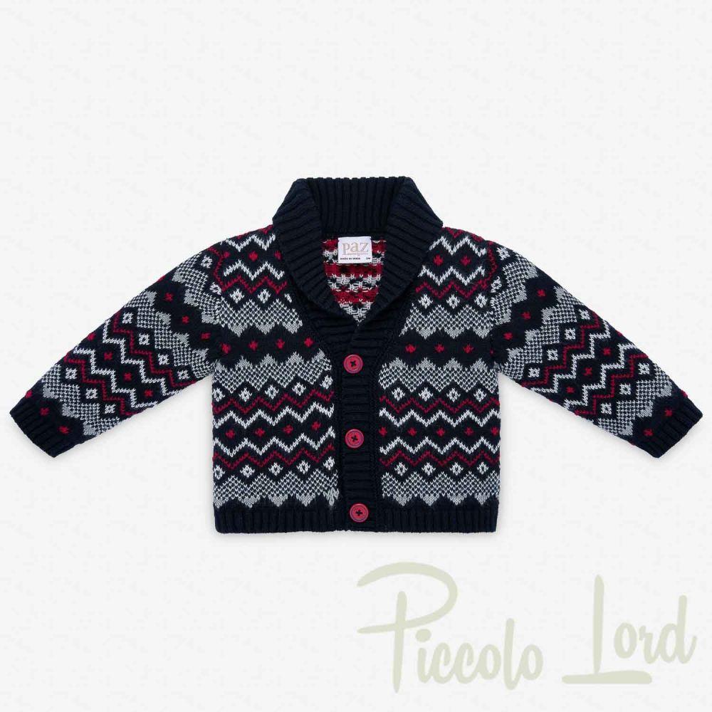 CARDIGAN Paz Rodriguez Blu Abbigliamento Neonato Autunno Inverno 2020 001-31067