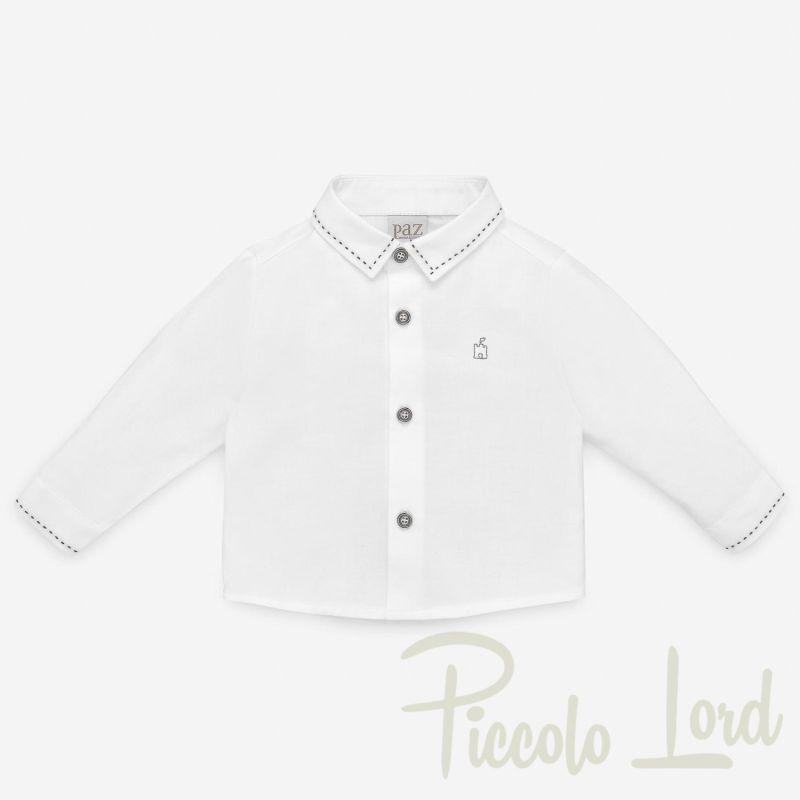 006-35132 SHIRT Paz Rodriguez Cobalto Abbigliamento Neonato Autunno Inverno 2020 Piccolo Lord Bari