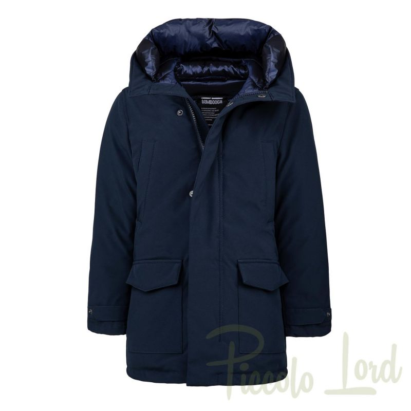 CK673DTAC5 Parka Bomboogie  Blu Abbigliamento Bambini Autunno Inverno 2020 Piccolo Lord Bari