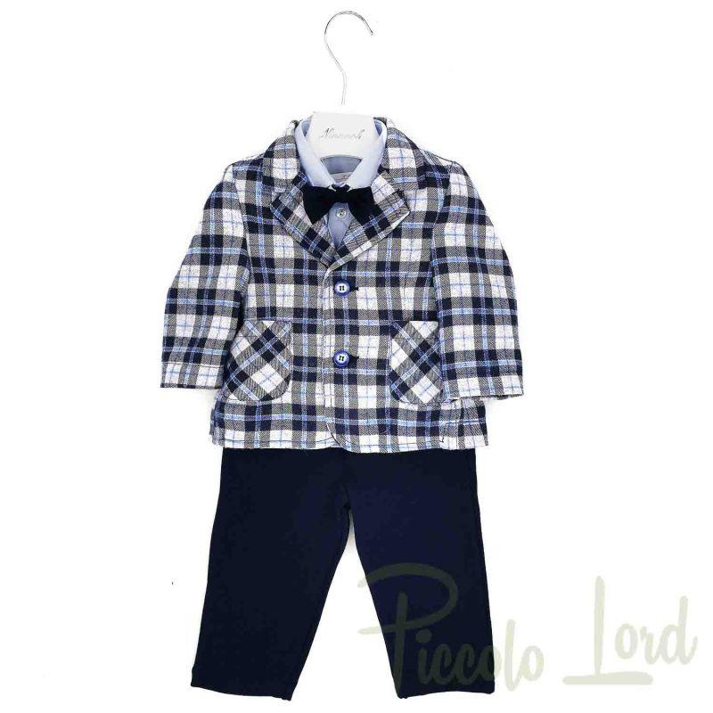 I20512#BL01 Completo 4 Pezzi Ninnaoh Blu Abbigliamento Neonato Autunno Inverno 2020 Piccolo Lord Bari