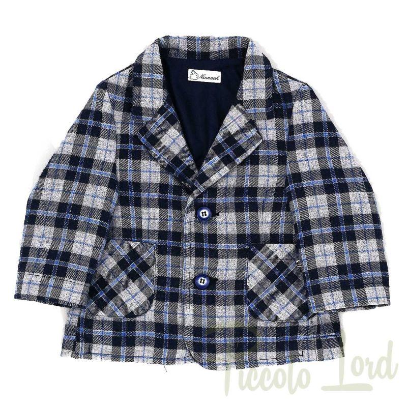 Completo 4 Pezzi Ninnaoh Blu Abbigliamento Neonato Autunno Inverno 2020 I20512#BL01