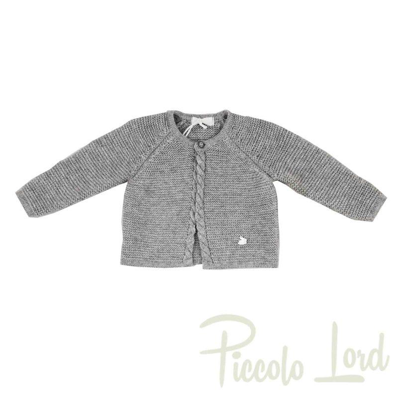 I2032#GRIG Giacchino Ninnaoh Grigio Abbigliamento Neonato Autunno Inverno 2020 Piccolo Lord Bari