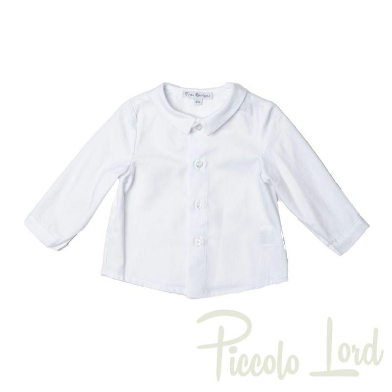 O20B8479 Camicia Fina Ejerique Bianco Abbigliamento Bambini Autunno Inverno 2020 Piccolo Lord Bari