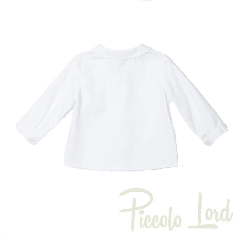 Camicia Fina Ejerique Bianco Abbigliamento Bambini Autunno Inverno 2020 O20B8479