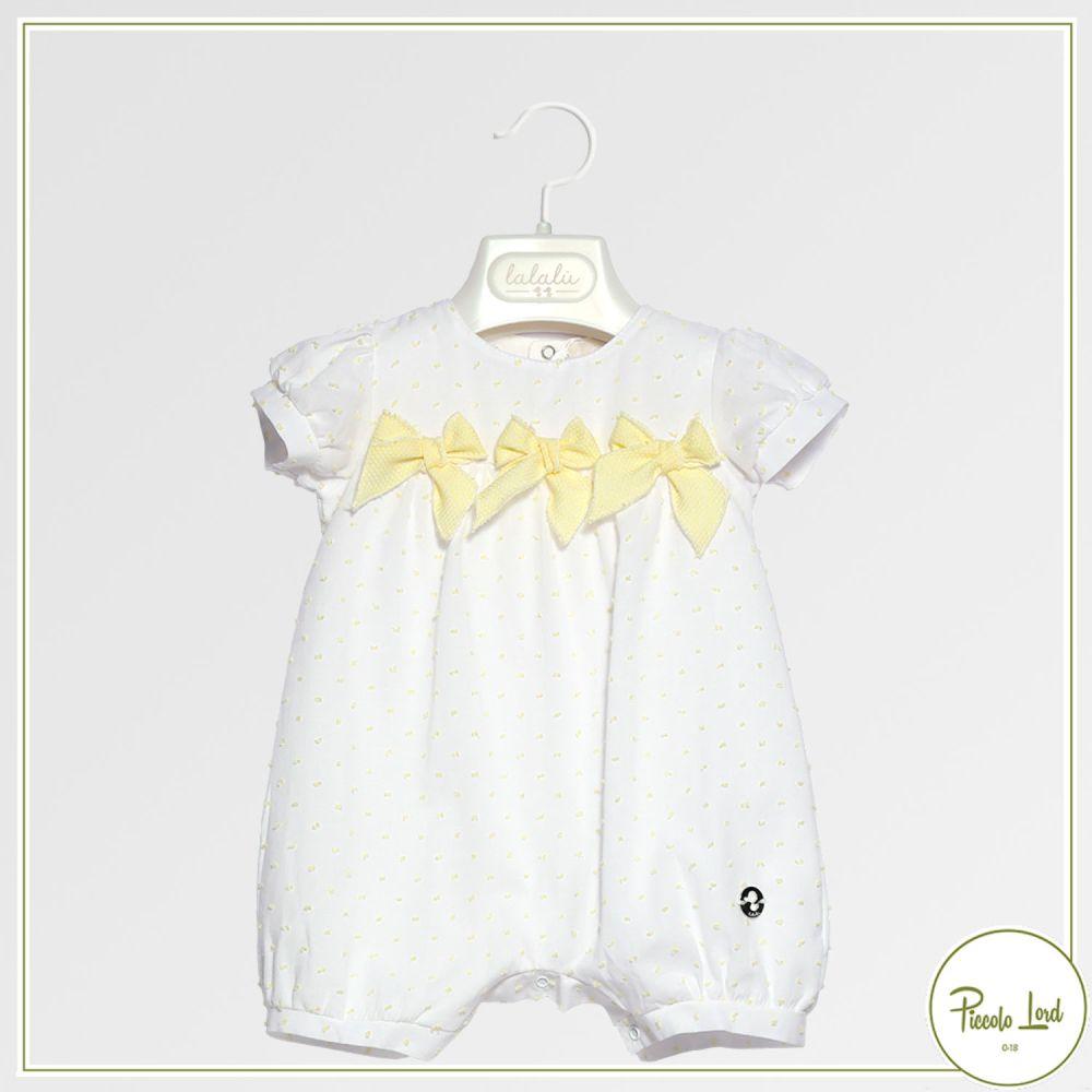 Pagliaccetto Lalalù Bianco Abbigliamento Neonato Primavera Estate 2021 PAL007E