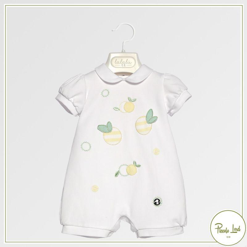 Pagliaccetto Lalalù Bianco Abbigliamento Neonato Primavera Estate 2021 PAL7E