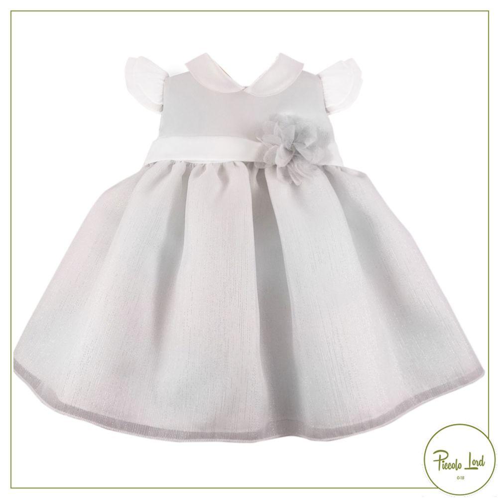 Abito Ninnaoh Bianco Abbigliamento Neonato Primavera Estate 2021 E2155#B001