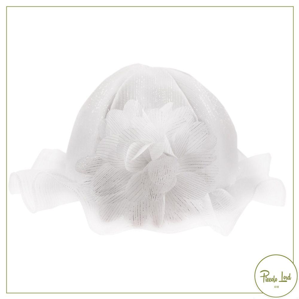 Cappello Ninnaoh Bianco Abbigliamento Neonato Primavera Estate 2021 E2157#B001
