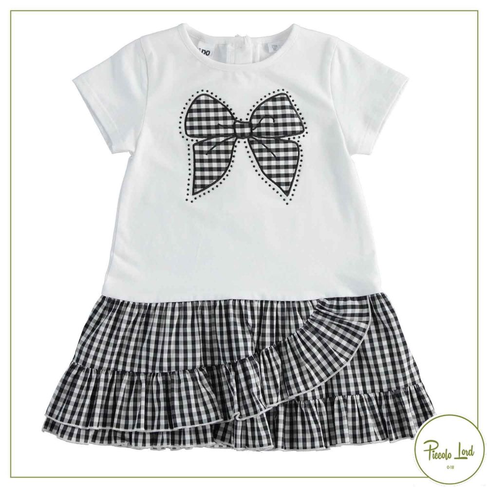 Abito iDO Bianco Abbigliamento Bambini Primavera Estate 2021 42299