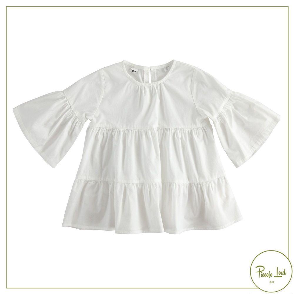 42890 Camicia iDO Bianco Abbigliamento Bambini Primavera Estate 2021 Piccolo Lord