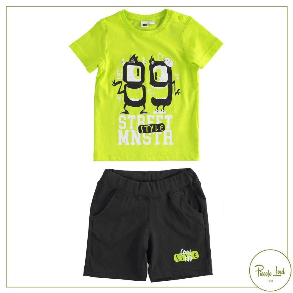 Completo iDO Verde Abbigliamento Bambini Primavera Estate 2021 42716