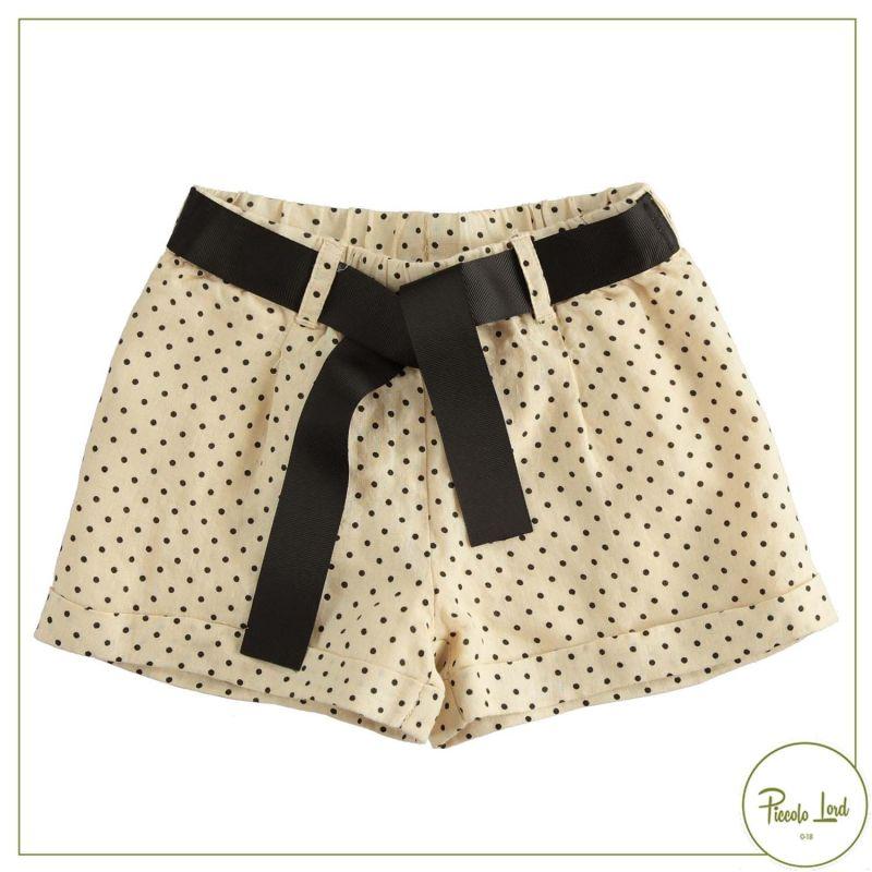 Short  iDO Beige-Nero Abbigliamento Bambini Primavera Estate 2021 42750
