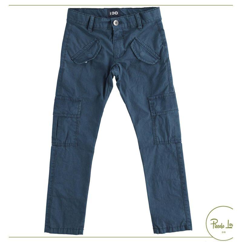 42413 Pantalone iDO Navy Abbigliamento Bambini Primavera Estate 2021 Piccolo Lord