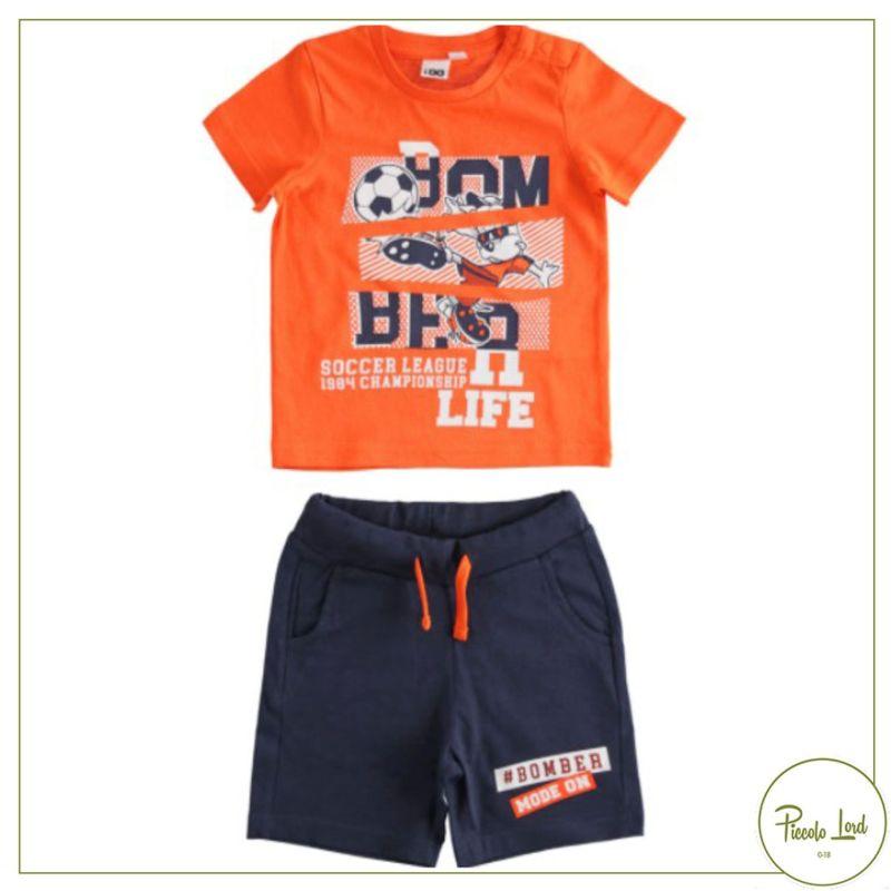 42043 Completo iDO Arancio Abbigliamento Bambini Primavera Estate 2021 Piccolo Lord