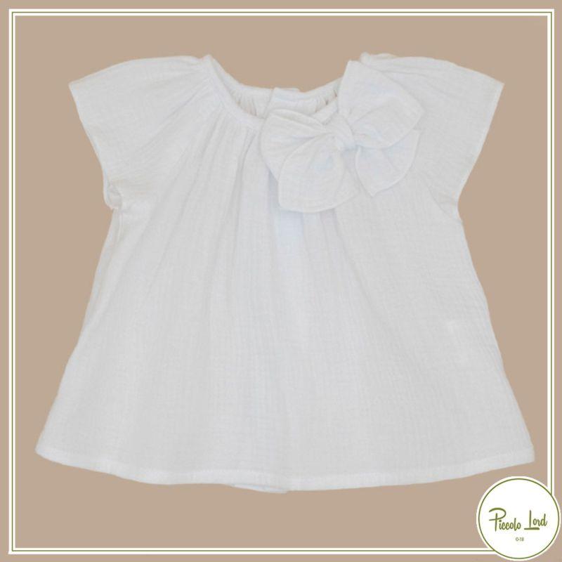 Blusa White Fina Ejerique Abbigliamento Bambini Primavera Estate 2021 P21A46