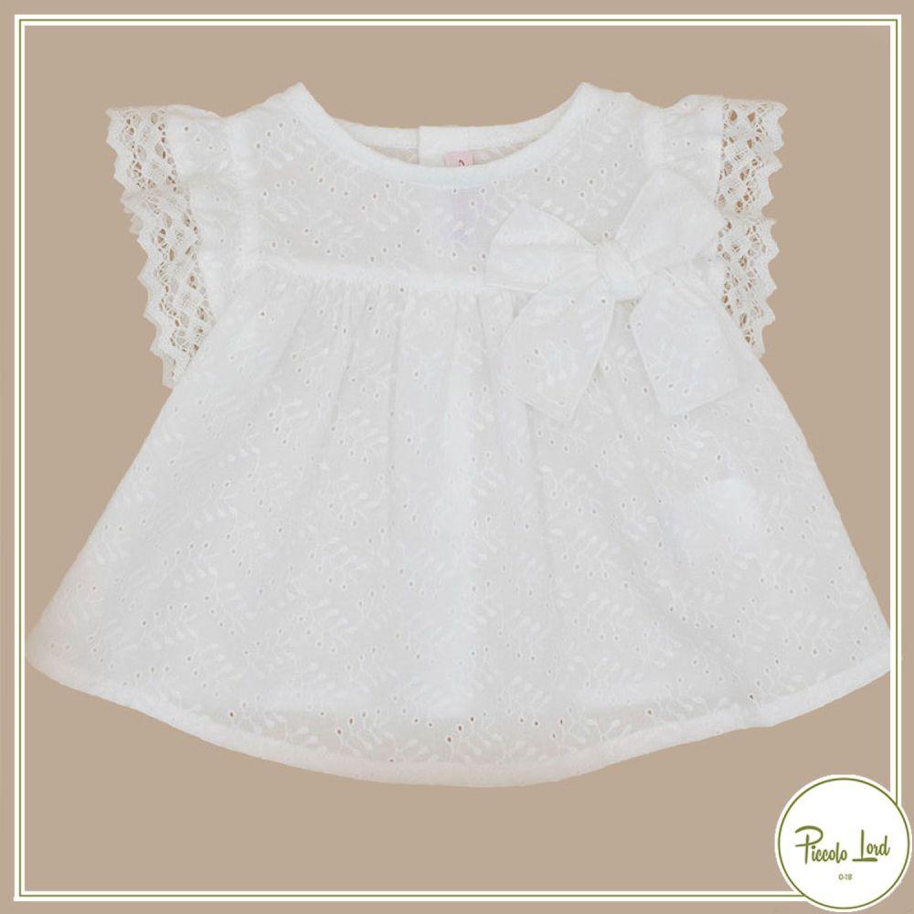 Blusa White Fina Ejerique Abbigliamento Bambini Primavera Estate 2021 P21P06
