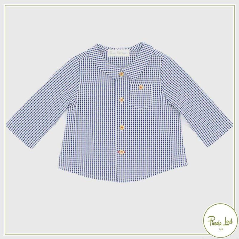 Camicia Navy Fina Ejerique Abbigliamento Bambini Primavera Estate 2021 P21B18