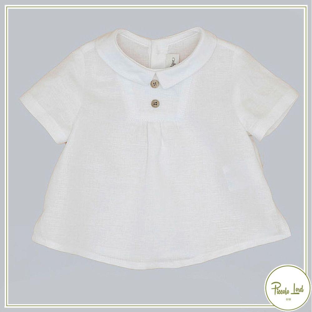 Camicia White Fina Ejerique Abbigliamento Bambini Primavera Estate 2021 P21B80