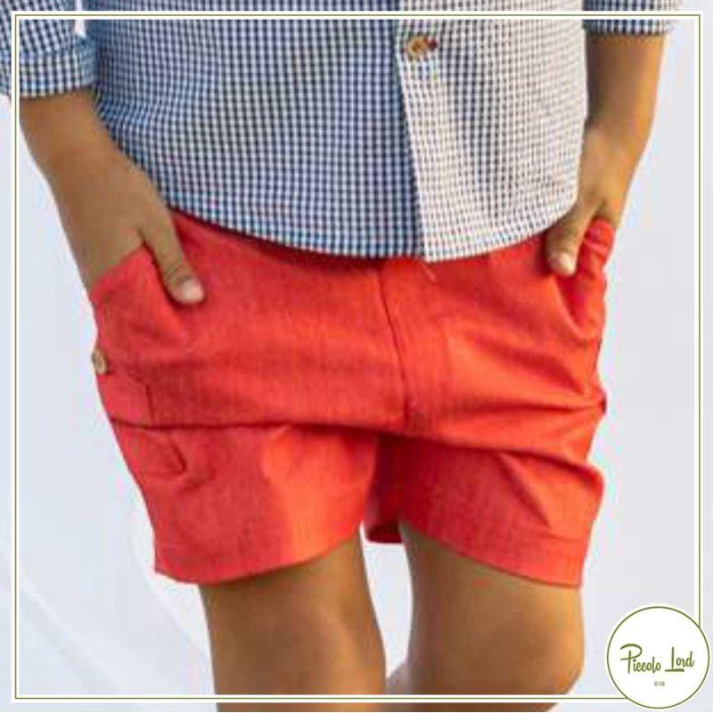Short Red Fina Ejerique Abbigliamento Bambini Primavera Estate 2021 P21B22