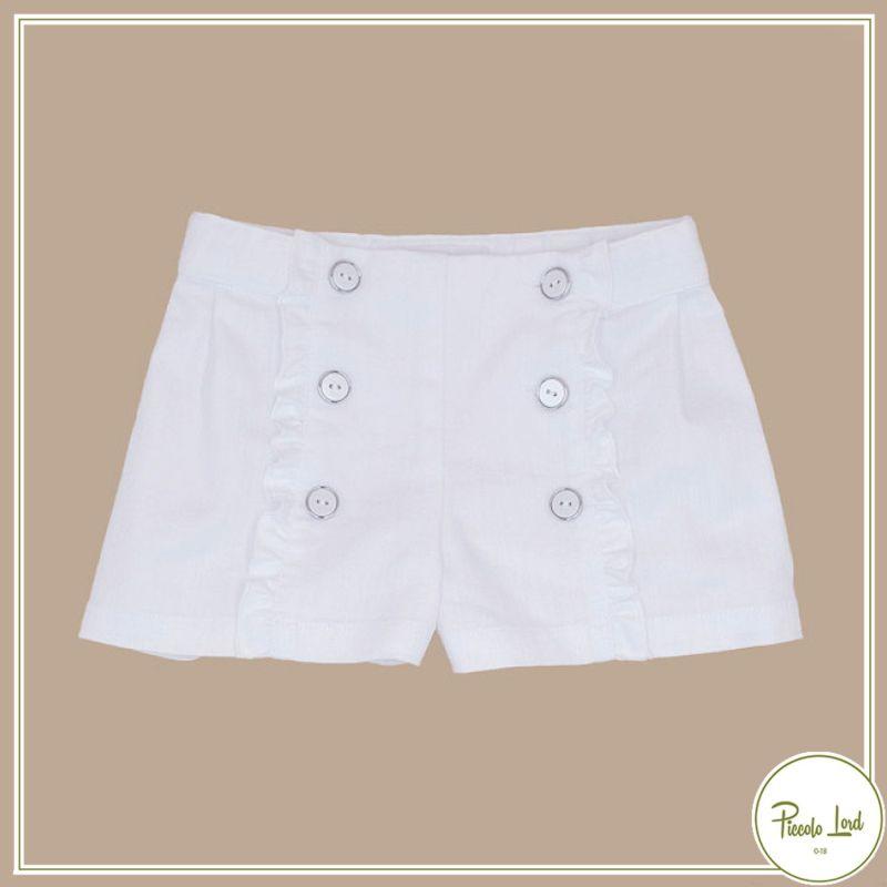 P21M15 Short White Fina Ejerique Abbigliamento Bambini Primavera Estate 2021 Piccolo Lord