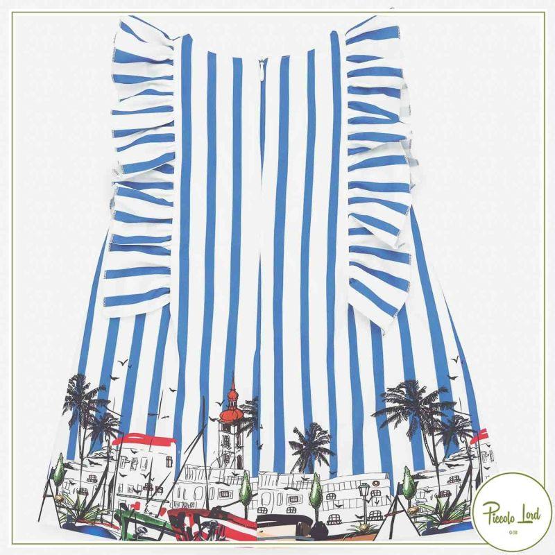 Dress Paz Rodriguez Blue France Abbigliamento Neonato Primavera Estate 2021 004-35530