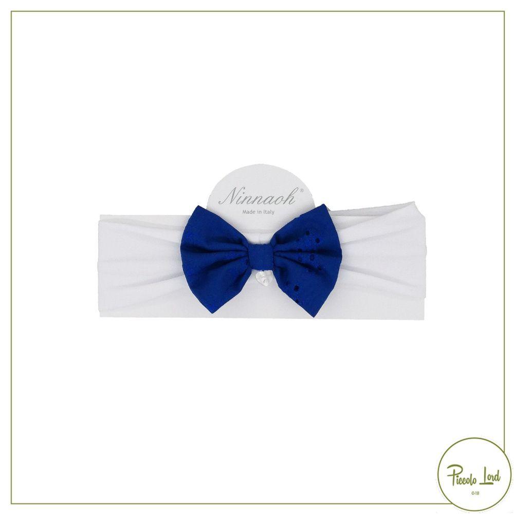 E2173#BL01 Fascetta Ninnaoh Blu Abbigliamento Neonato Primavera Estate 2021 per completare l'outfit
