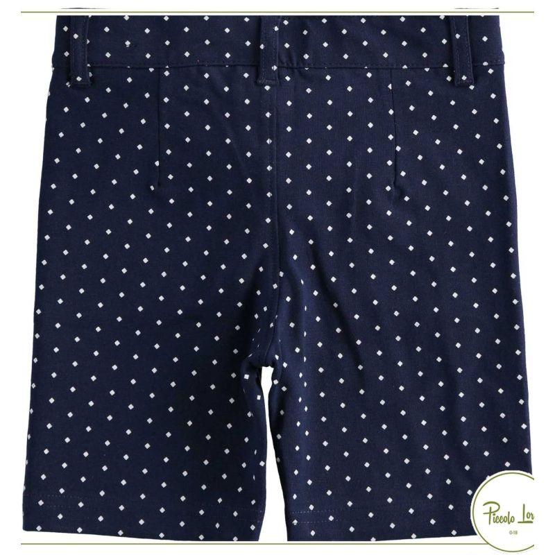 Bermuda iDO Blu-Bianco Abbigliamento Bambini Primavera Estate 2021 42696