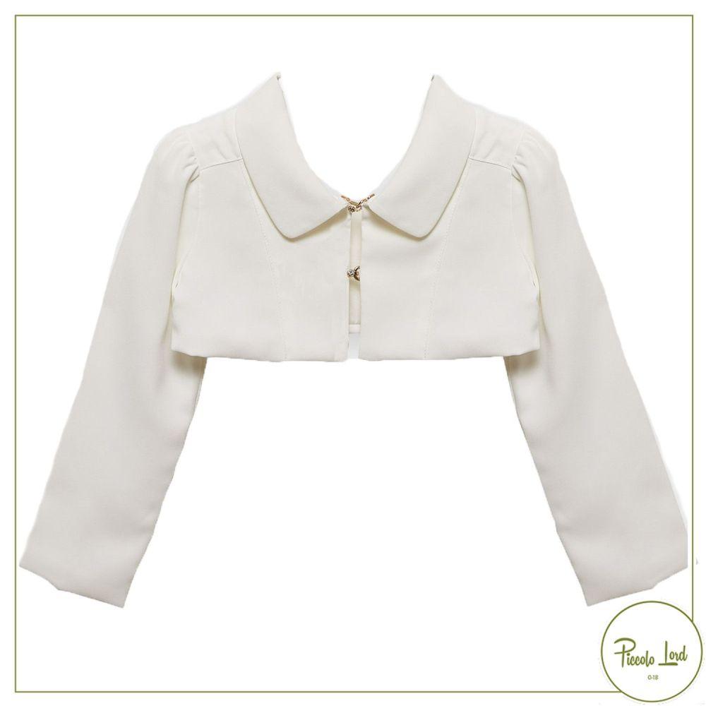 Bolero Alice Pi Avorio Abbigliamento Bambini Primavera Estate 2021 S21-2904