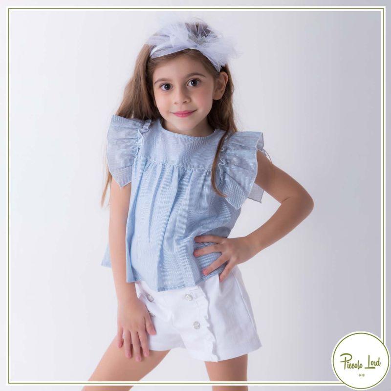Short White Fina Ejerique Abbigliamento Bambini Primavera Estate 2021 P21M15