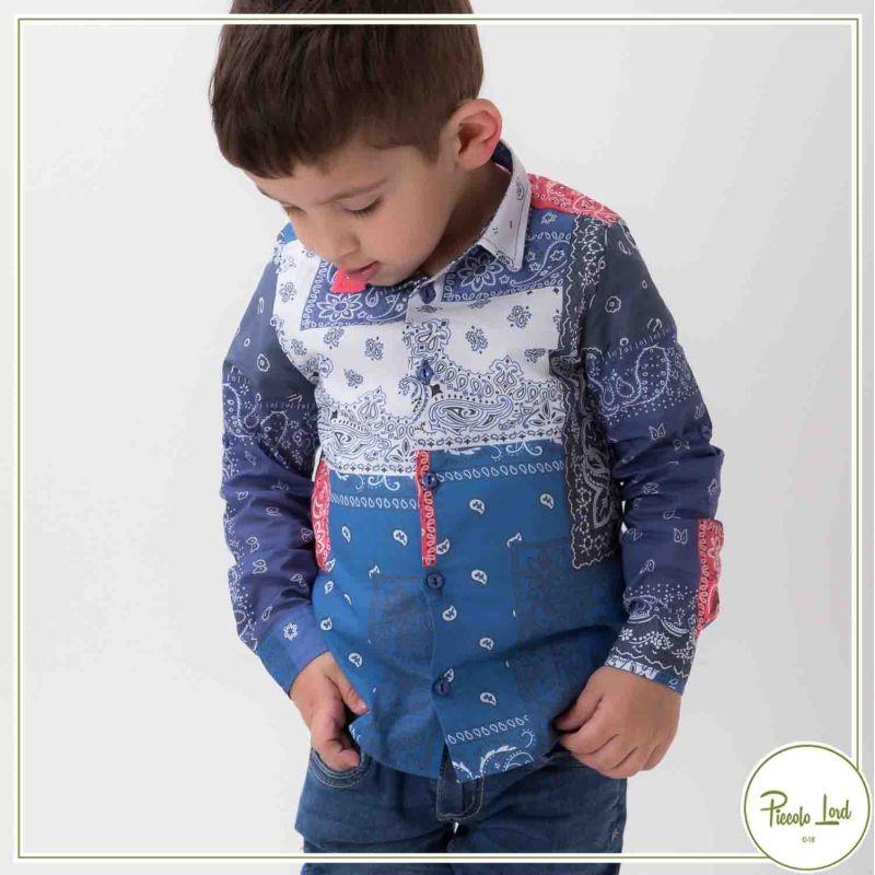 Camicia Alessandrini Bluette Abbigliamento Bambini Primavera Estate 2021 1295C0561