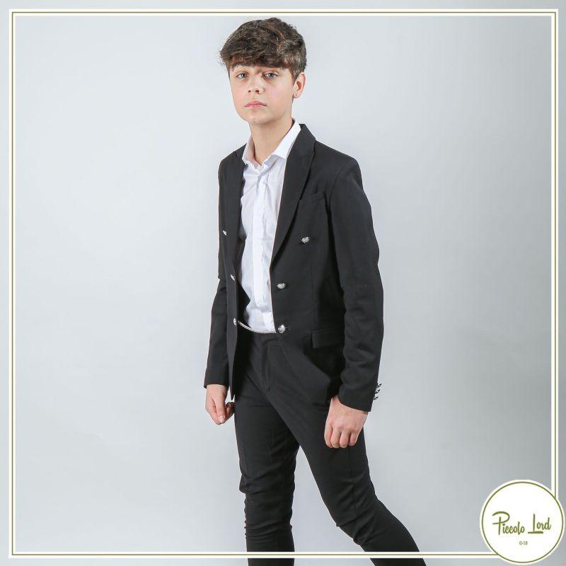 Completo Alessandrini Black Abbigliamento Bambini Primavera Estate 2021 1235J0918