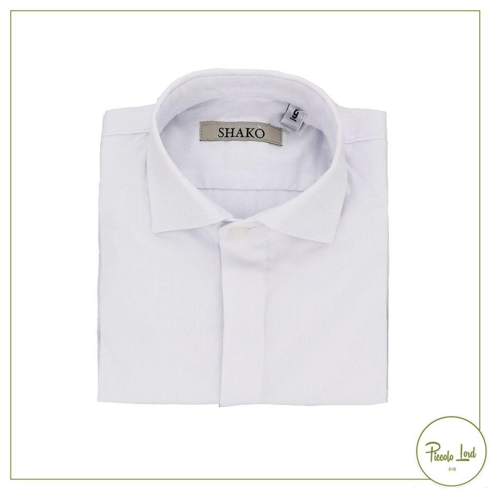 Camicia Shakò Bianco Abbigliamento Bambini Primavera Estate 2021 CSK0357N