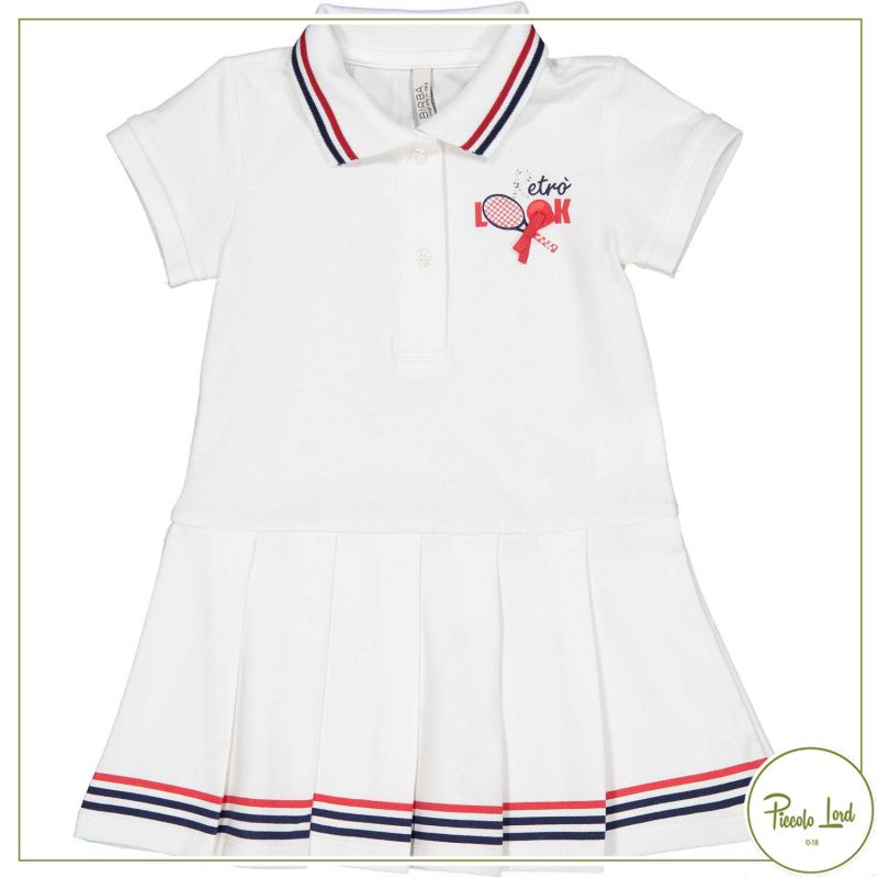 Abito Birba Bianco Abbigliamento Bambini Primavera Estate 2021 25308