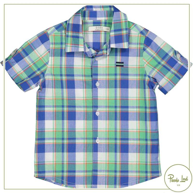 Camicia Birba Scozzese Abbigliamento Bambini Primavera Estate 2021 20014