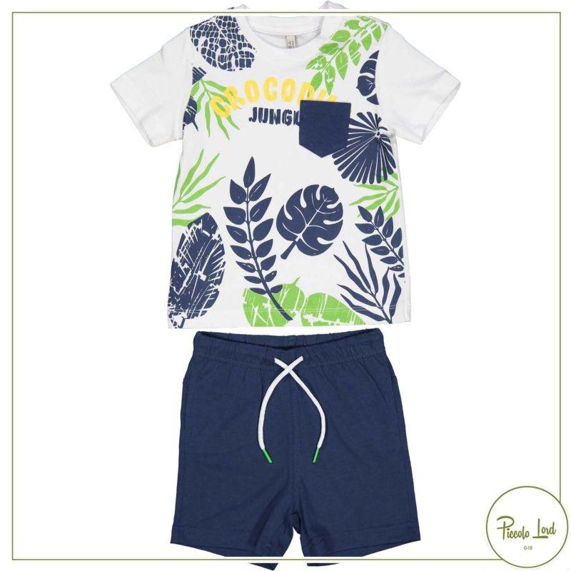 Completo Birba Bianco Abbigliamento Bambini Primavera Estate 2021 29042