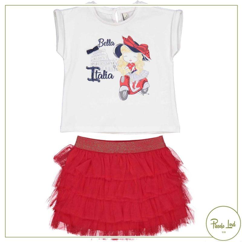 Completo Birba Bianco Abbigliamento Bambini Primavera Estate 2021 29034