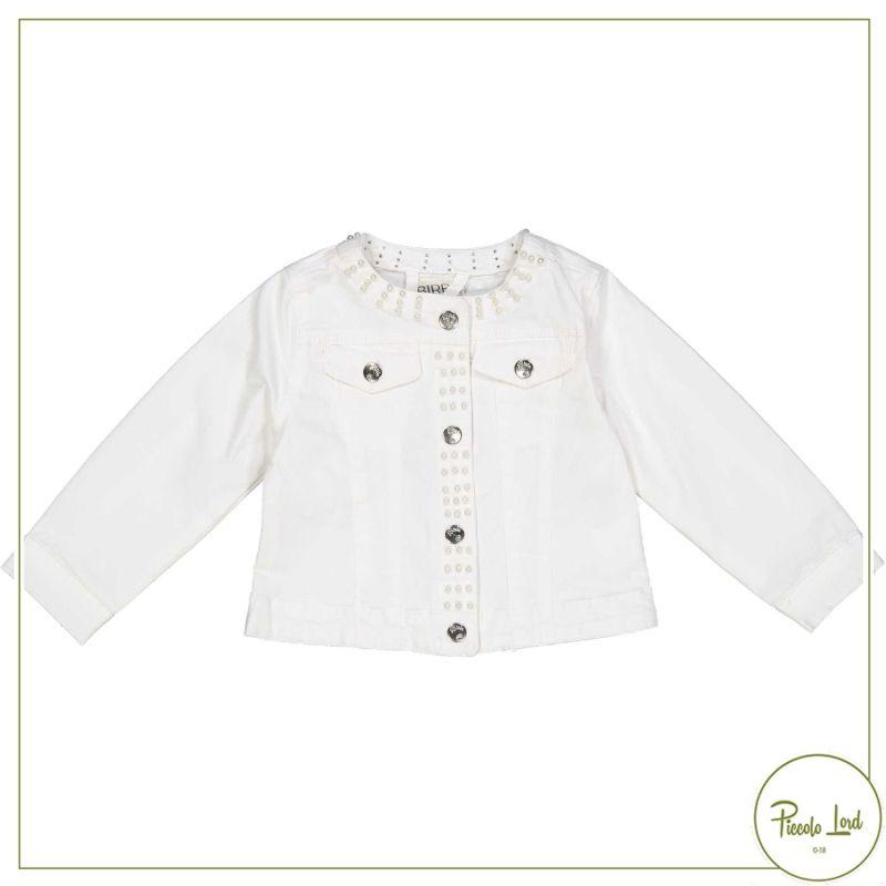 Giubbotto Birba Bianco Abbigliamento Bambini Primavera Estate 2021 27005