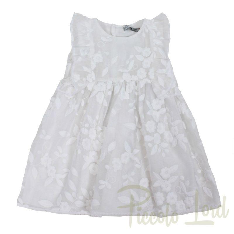 Abito Dr.Kid Bianco Abbigliamento Primavera Estate 2020 DK371/PV20