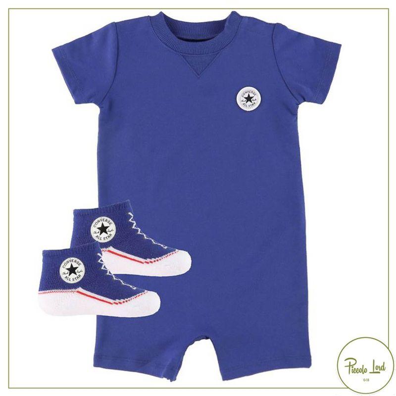 Completo Converse Blu Abbigliamento Bambini Primavera Estate 2021 56A247-C6H
