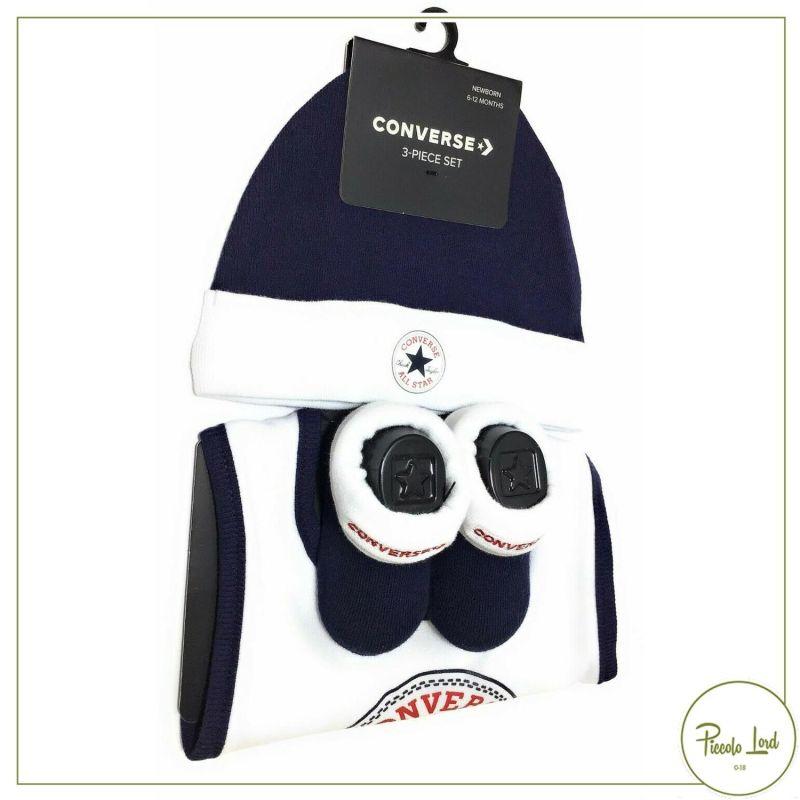NC0224-695 Set Converse Blu Abbigliamento Bambini Primavera Estate 2021 per completare l'outfit