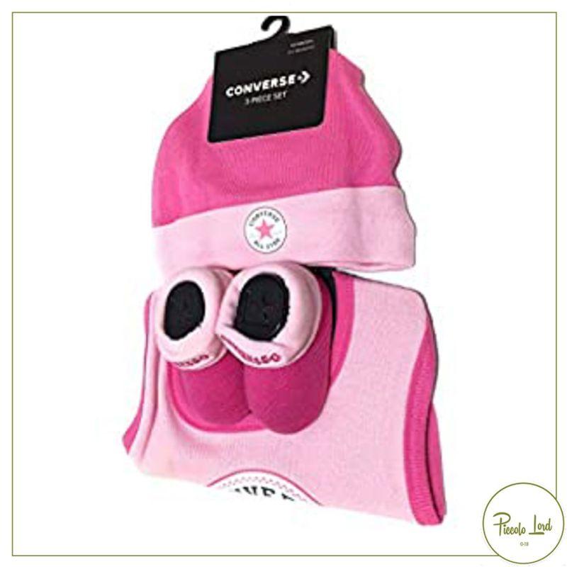 NC0224-ACP Set Converse Rosa Abbigliamento Bambini Primavera Estate 2021 per completare l'outfit